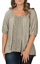 Wired Heart Women's Beige Half Sleeve Fashion Shirt