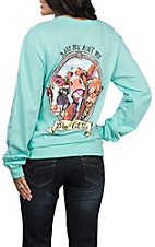 Girlie Girl Originals Women's Mint Brand of Cattle Long Sleeve T-Shirt