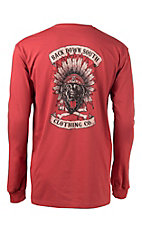 Back Down South Crimson with Chief Logo Long Sleeve Pocket Tee