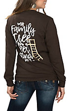 Girlie Girl Originals Women's Brown My Family Tree Has a Deer Stand L/S T-Shirt