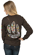 Girlie Girl Originals Women's Chocolate Feathers PSALM 91:4 Long Sleeve Tee