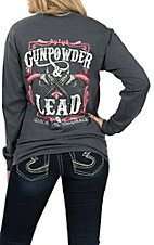 Girlie Girl Originals Women's Graphite Gunpowder & Lead L/S T-Shirt