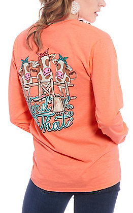 Girlie Girl Originals Women's Coral Herd That Long Sleeve T-Shirt