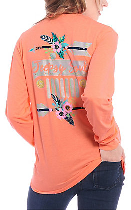 Girlie Girl Originals Women's Coral Jeepsy Soul Long Sleeve T-Shirt