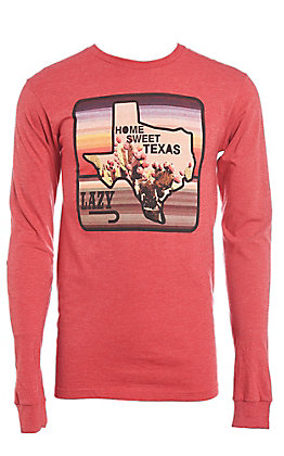 Lazy J Ranchwear Home Sweet Texas Graphic Long Sleeve T-Shirt
