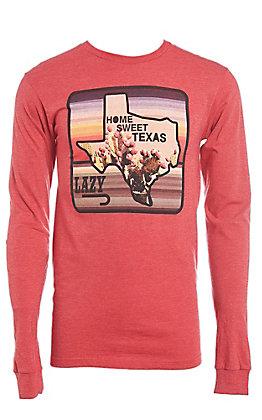 9a3b70d2151 Lazy J Ranchwear Home Sweet Texas Graphic Long Sleeve T-Shirt