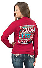 Girlie Girl Originals Women's Red Roads In Life Long Sleeve Tee