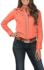 Wrangler Women's Coral Embroidered Long Sleeve Western Shirt