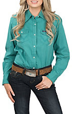 Wrangler Women's Jade Long Sleeve Fitted Western Shirt