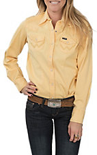 Wrangler Women's Yellow Long Sleeve Western Shirt