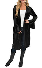 Wrangler Women's Black Velvet Duster