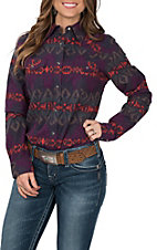 Wrangler Women's Long Sleeve Aztec Western Shirt