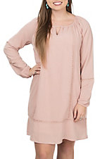 Wrangler Women's Blush Long Sleeve Dress