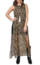 Wrangler Women's Sleeveless Cheetah Print Dress