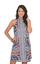Wrangler Women's Navy Paisley Sleeveless Dress