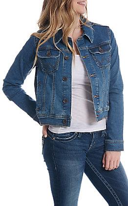 e2b4a50546 Wrangler Women s Denim Button Down Jacket