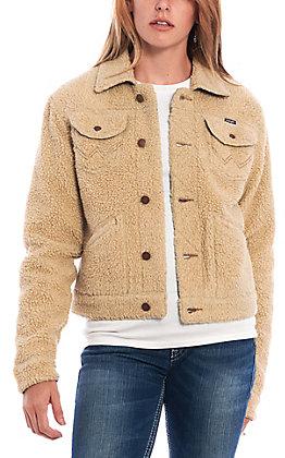 Wrangler Women's Sherpa Denim Lined Jacket