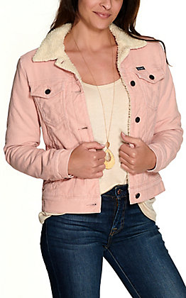 Wrangler Retro Women's Pink Corduroy with Sherpa Jacket