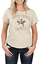 Wrangler Women's Hold Your Horses Short Sleeve Graphic Tee