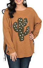 Wrangler Women's Gold Cactus Sweater