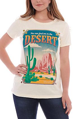 Wrangler Women's Ivory Desert Screen Print Short Sleeve Tee