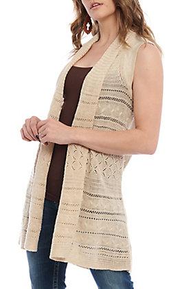 Wrangler Retro Women's Oatmeal Sleeveless Sweater Vest
