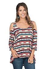 Wrangler Women's Aztec Cold Shoulder Tunic