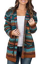 Wrangler Women's Long Sleeve Sweater Cardigan