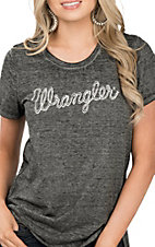 Wrangler Women's Knit Crewneck Rope Logo T-Shirt