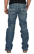 Rock & Roll Cowboy Cavender's Exclusive Men's Double Barrel Straight w/ Small Running Stitch Jeans