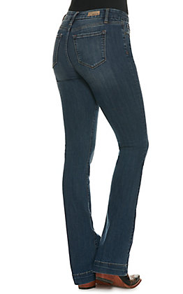 Miss Me Women's Medium Wash Stretch Boot Cut Jeans