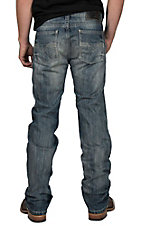 Rock & Roll Cowboy Light Wash Revolver Straight Slim Stretch Jeans