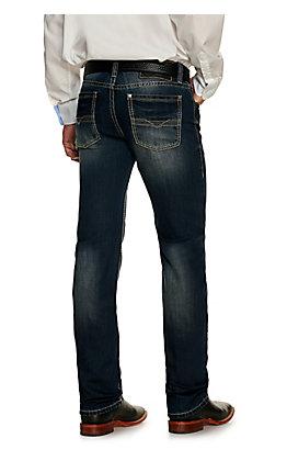 Rock & Roll Denim Men's Revolver Dark Wash Slim Fit Straight Leg Jean