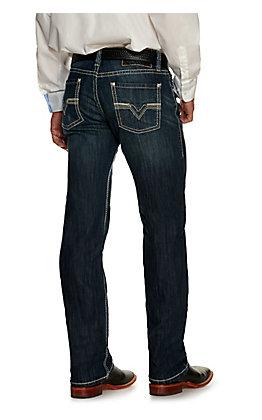Rock & Roll Denim Men's Revolver Dark Wash Slim Reflex Stretch Straight Leg Jean