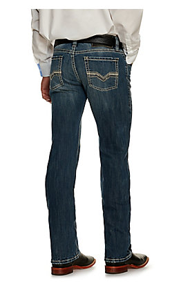 Rock & Roll Denim Men's Revolver Medium Wash Slim Fit ReFlex Stretch Straight Leg Jean