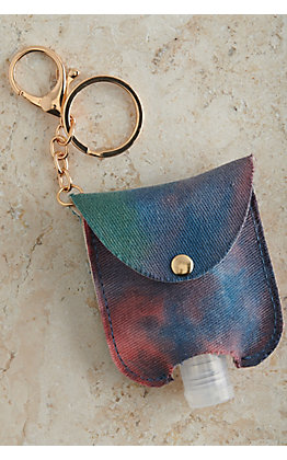 Amber's Allie Tie Dye Hand Sanitizer Holder Keychain