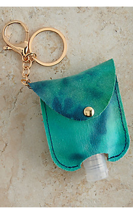 Amber's Allie Turquoise Tie Dye Hand Sanitizer Holder Keychain