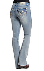 Miss Me Women's Living Angel Mid Rise Bootcut Jeans