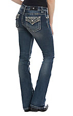 Miss Me Women's Mad About You Dark Wash Boot Cut Jeans