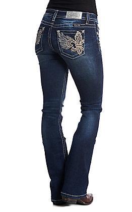 Miss Me Women's Fleur De Wing Bootcut Jeans
