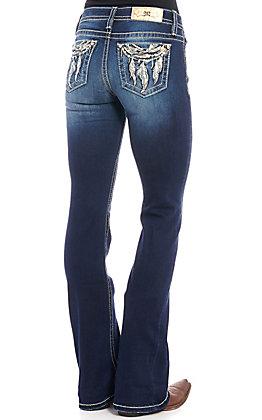 Miss Me Women's Dark Wash Dreamy Days Bootcut Jeans
