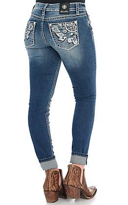 Miss Me Women's Dreamy Love Dreamcatcher Skinny Jeans