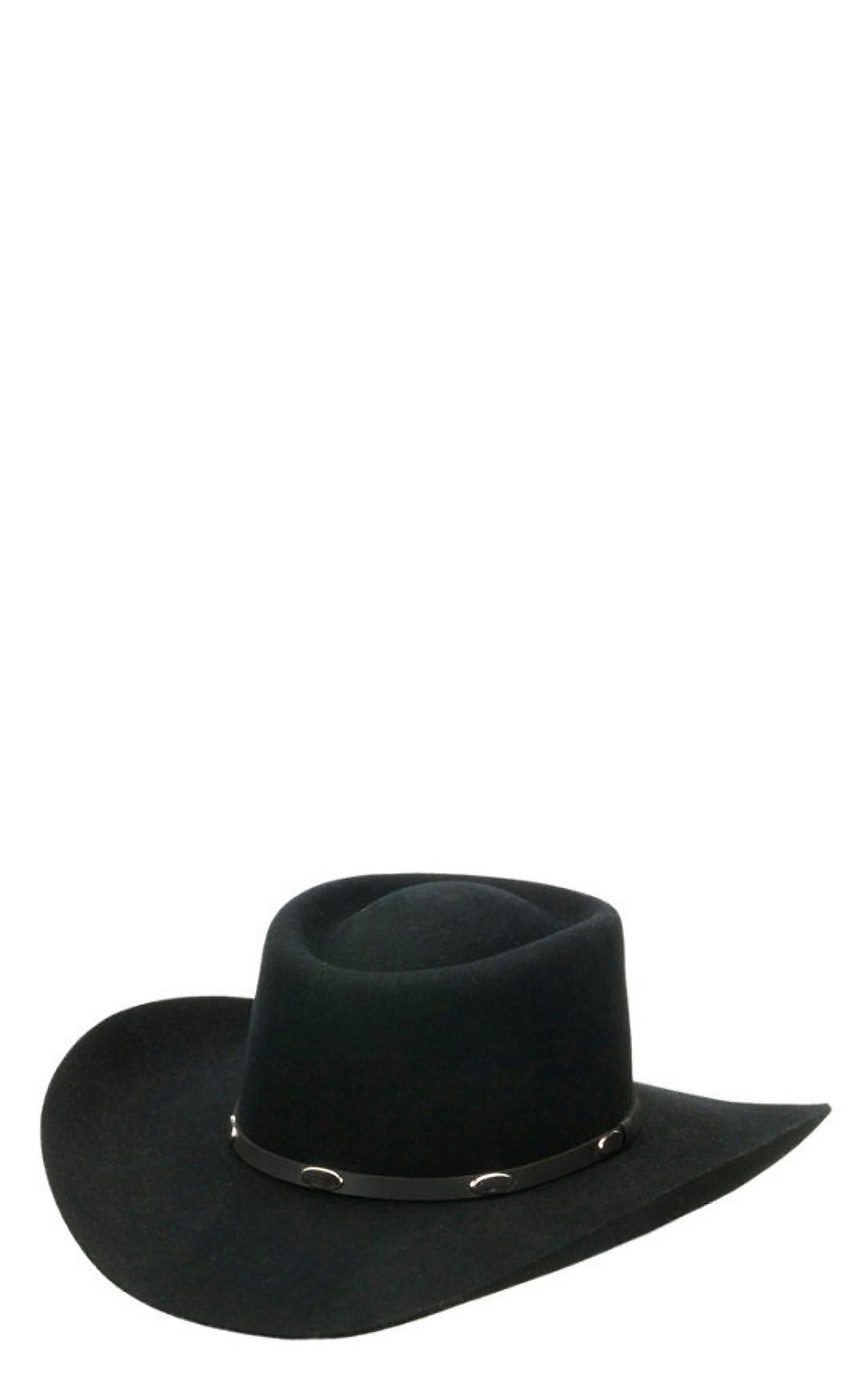 Master Hatters 3X Hold Em Gambler Black Wool Cowboy Hat dc9f6d7cd817