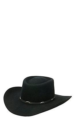 Master Hatters 3X Hold Em Gambler Black Wool Cowboy Hat