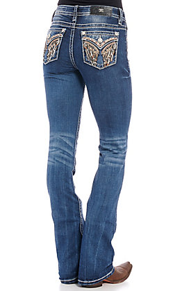 Miss Me Women's Wings Medium Wash Bootcut Jeans