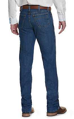 Cinch Men's Bronze Label Dark Stonewash Slim Fit Tapered Leg Jean