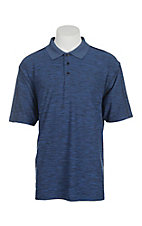 Wrangler 20X Men's Heather Navy S/S Polo Shirt