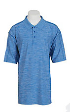 Wrangler 20X Men's Heather Blue S/S Polo Shirt