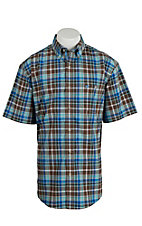 Wrangler Men's Advanced Comfort Short Sleeve Western Shirt MACS29M