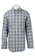 Wrangler Men's Advanced Comfort Long Sleeve Western Shirt MACS31M